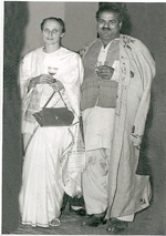 Freda Bedi with husband